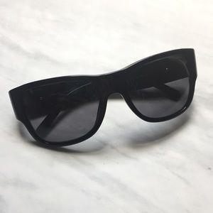 Versace Black Full Rim Square Sunglasses